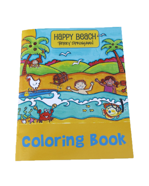 Buy the Happy Beach coloring book by The Springmans