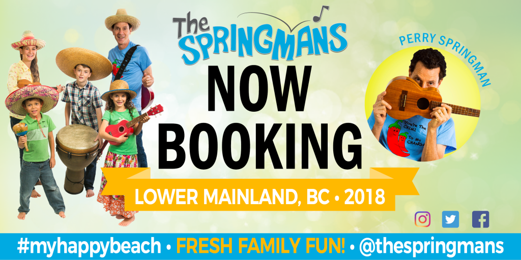 Book The Springmans Concert 2018 Lower Mainland, BC